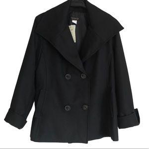 Veducci Black Double Button Swing Jacket Sz 12 NWT